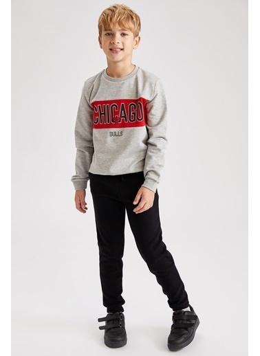 DeFacto Erkek Çocuk NBA Lisanslı Sweatshirt Gri